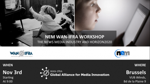 3 NOV 2015 – WORKSHOP: the role of News Publishers in HORIZON 2020